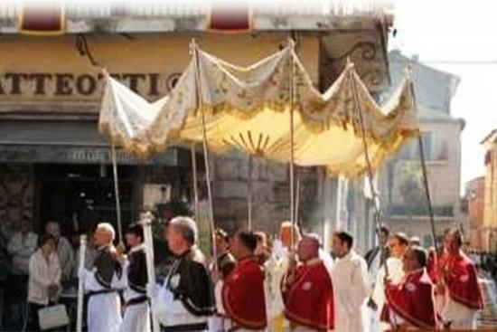 Celebrazione del Corpus Domini a Grosseto
