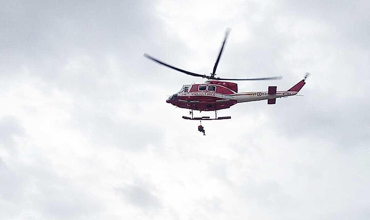 Straripa fiume Marta, Vigili del fuoco salvano uomo in difficoltà