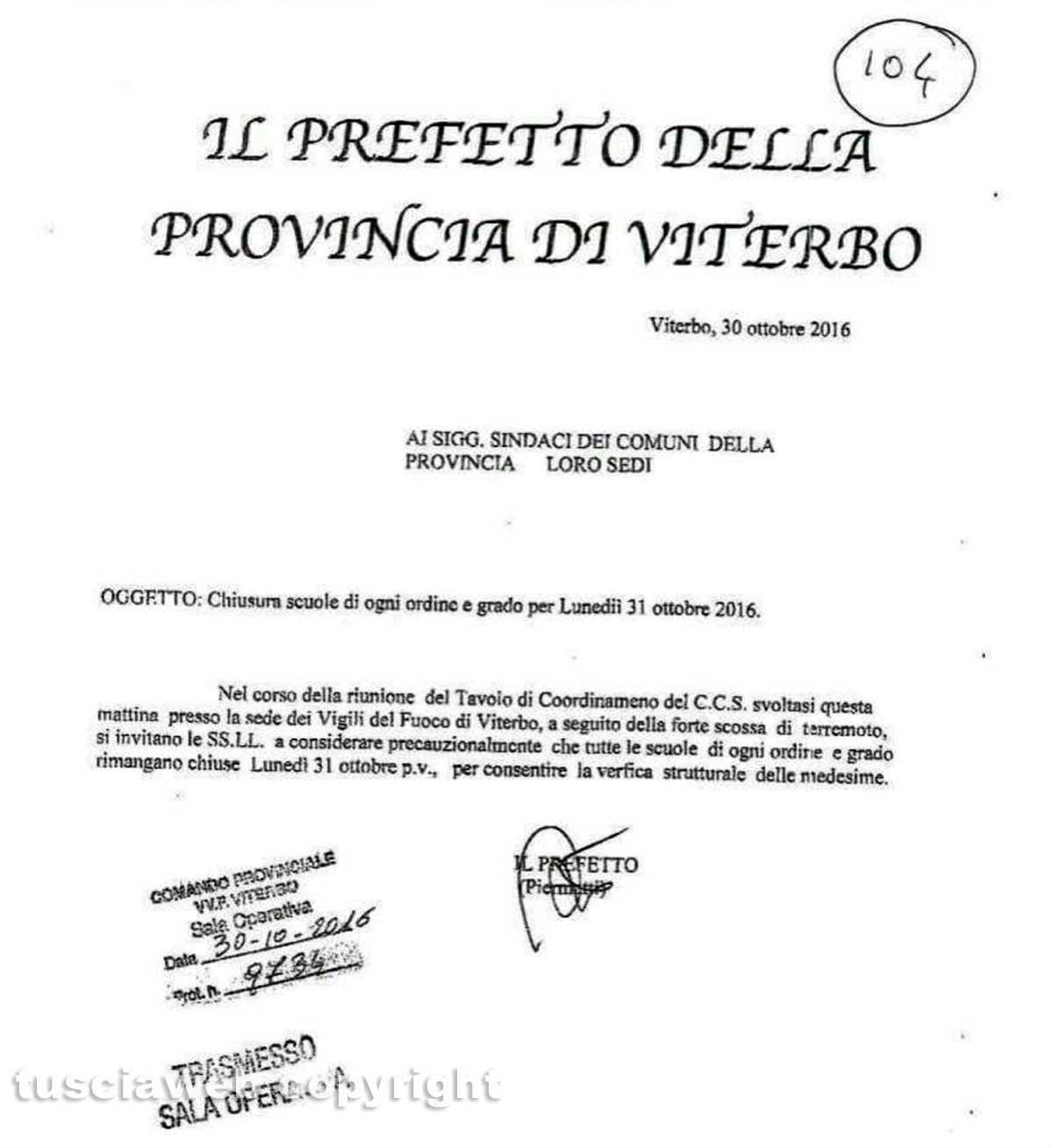 Terremoto, in corso i controlli sulle scuole di Senigallia