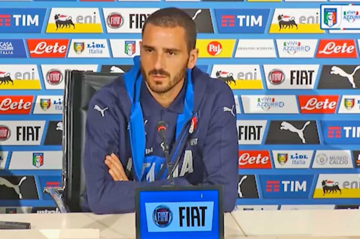 Italia, Bonucci si commuove in conferenza:
