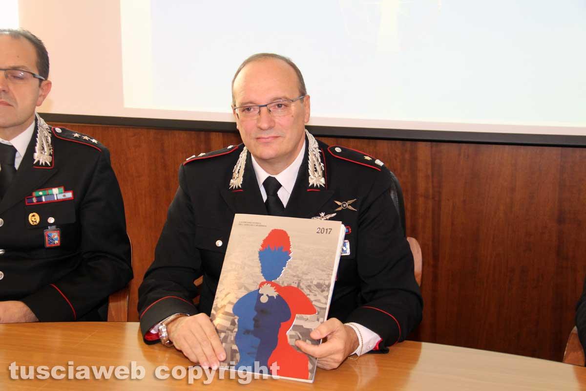 Catanzaro, presentato il calendario 2017 dell'Arma dei carabinieri