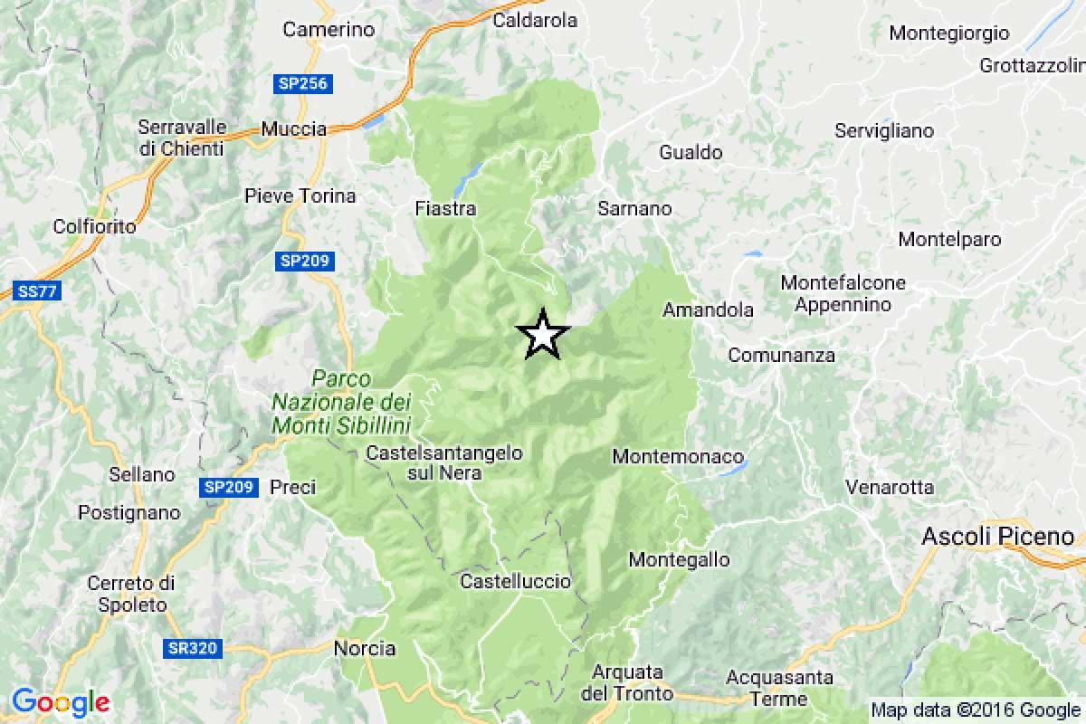 Terremoto ora, scossa di magnitudo 3.8 a Macerata