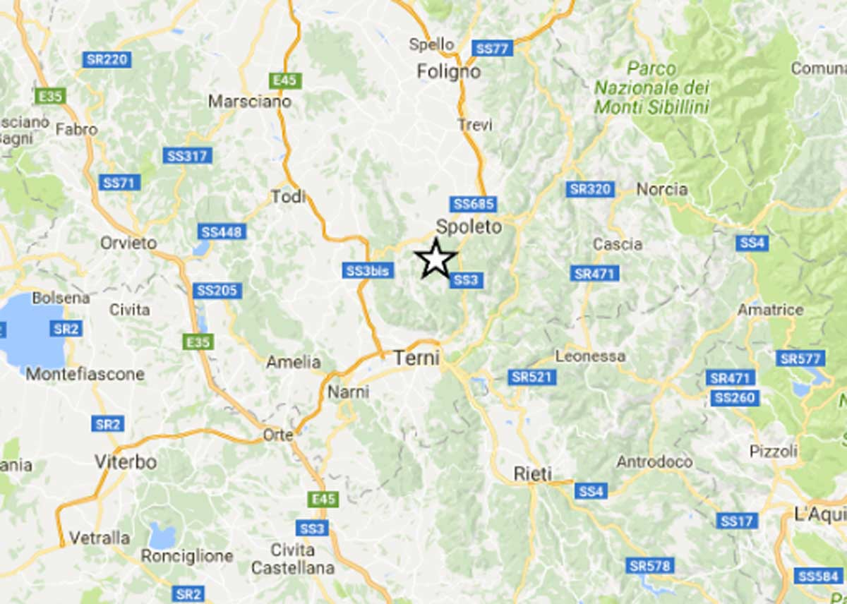 Terremoto, sciame sismico tra Spoleto e Terni, torna la paura: scuole evacuate