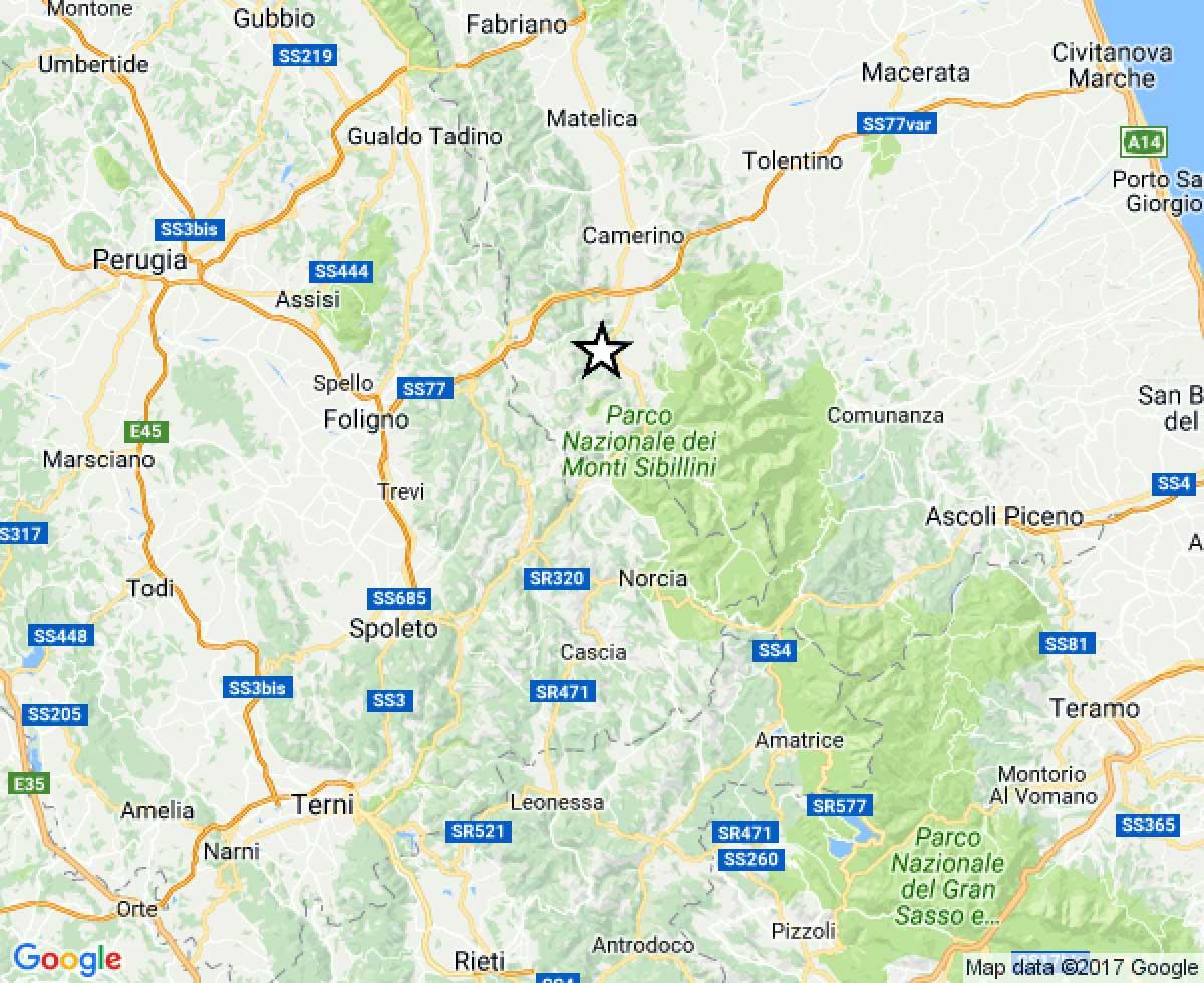 Terremoto, 20 scosse nella notte nel Centro Italia