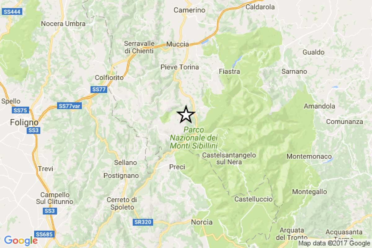 Terremoto scossa 4.1 Maceratese Visso sisma