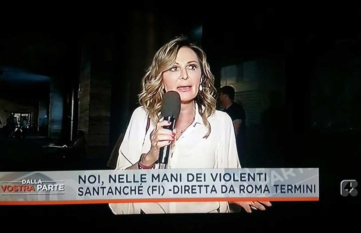 Roma, Daniela Santanché aggredita alla stazione Termini durante una diretta tv