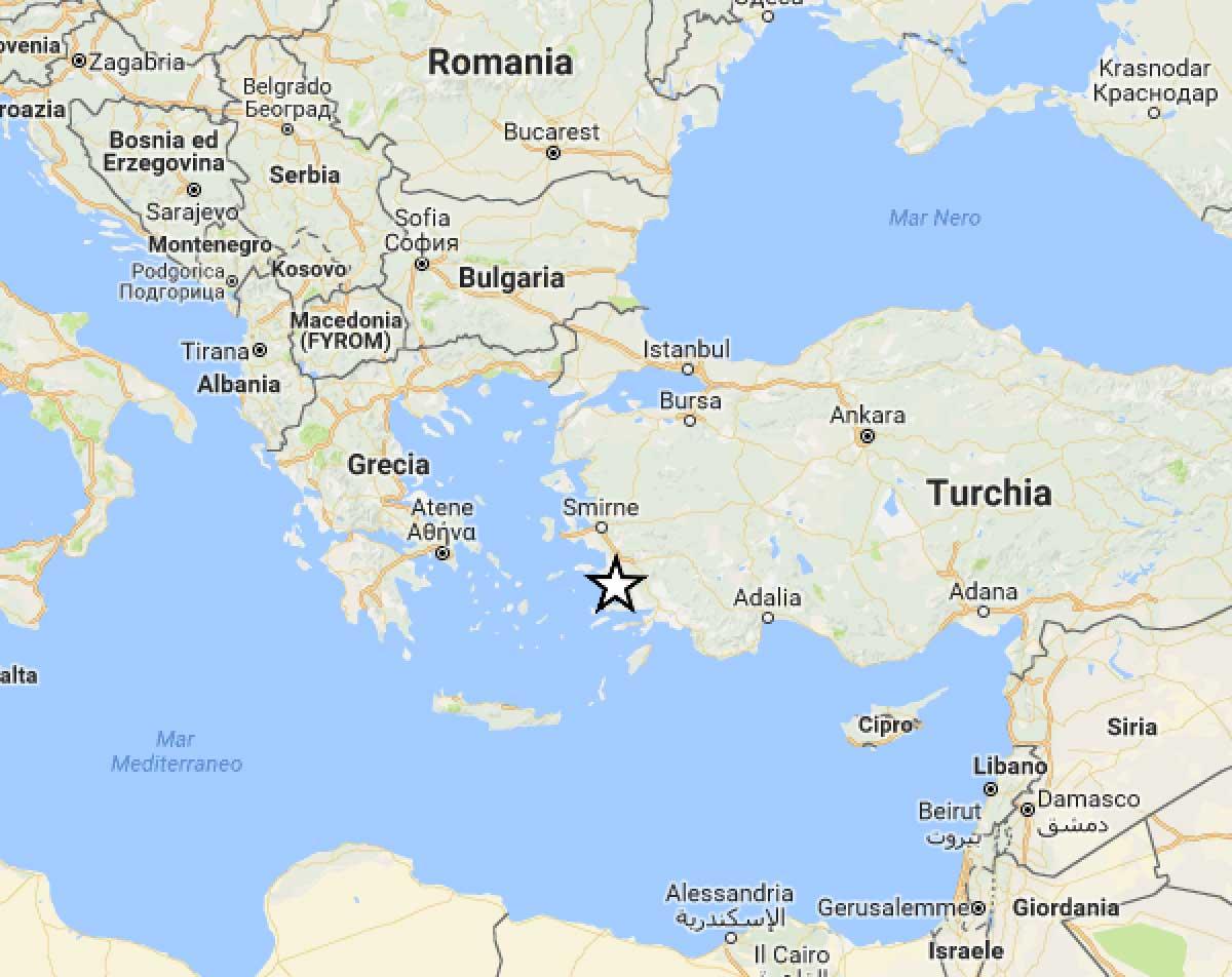 Sisma Egeo, sui social immagini di danni
